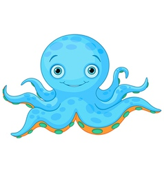 Cute octopus vector