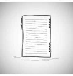 Sketch of notebook vector