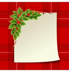 Merry Christmas and Happy New Year Christmas card vector image