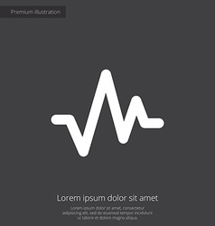 Pulse premium icon white on dark background vector