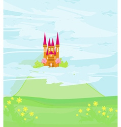 Magic sky castle vector