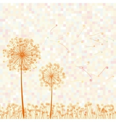 Abstract colorful dandelion vector