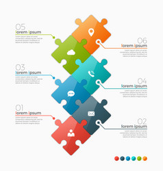 6 options infographic template vector image