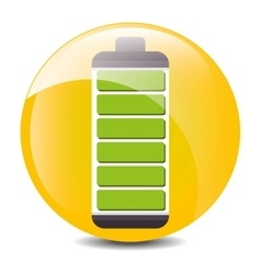 Low battery charging icon design vector