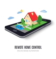 Remote home control concept icon vector