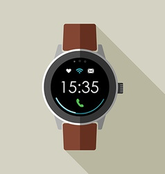 Vintage smart watch design with time and icons vector image