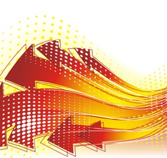 Technology web background vector image