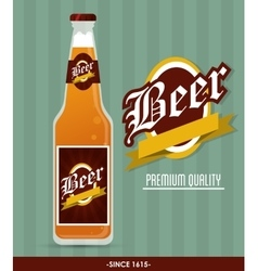 Beer bottle icon drink and beverage design vector