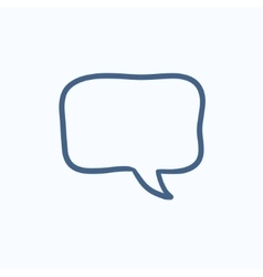 Empty speech square sketch icon vector