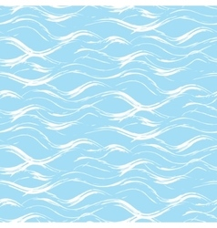 Acrylic paint wave strokes seamless pattern vector