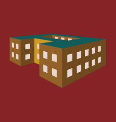 A school building vector
