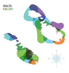Abstract color map of malta vector
