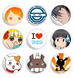 anime badges vector image vector image