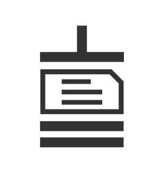Archive file sign icon vector