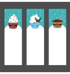 christmas cupcake invitation template vector image