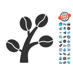 Coffee tree icon with free bonus vector