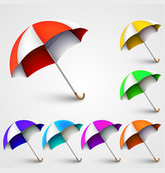 Colored umbrellas vector