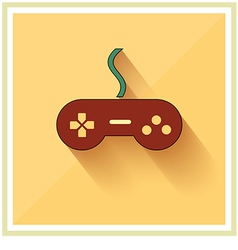 Computer Video Game Controller Joystick Flat vector image vector image