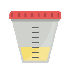 Container sample laboratory icon vector
