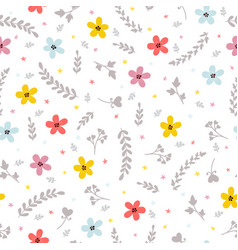 floral stylish background cute seamless pattern vector image vector image