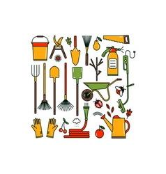 Garden tools set vector