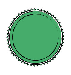 Green label badge decoration blank emblem vector