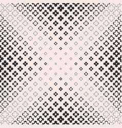 halftone texture monochrome seamless cross pattern vector image vector image