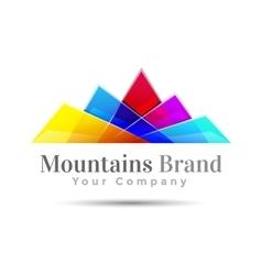 Mountain color logo creative colorful abstract vector