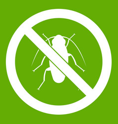 no cockroach sign icon green vector image vector image