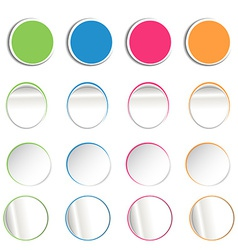 round notes vector image vector image