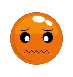 Sad face cartoon expression icon graphic vector