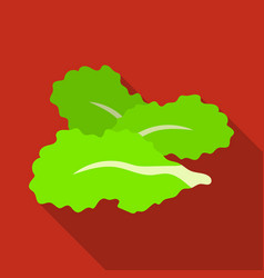 salad leavesburgers and ingredients single icon vector image