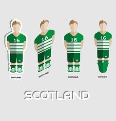 Scotland soccer team sportswear template vector