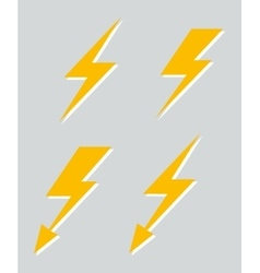 Set of four lightnings vector image vector image