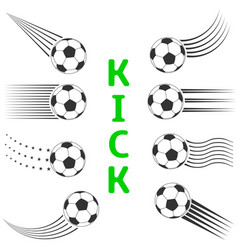 Soccer ball set vector
