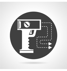 Stun gun black round icon vector