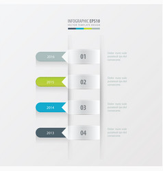 timeline template green blue gray color vector image vector image