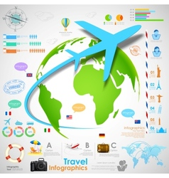Travel Infographic Chart vector image vector image
