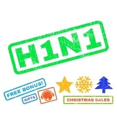 H1n1 rubber stamp vector