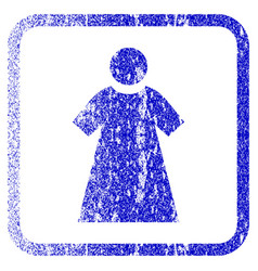 woman framed textured icon vector image