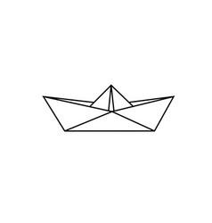 sketch paper boat vector image