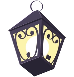 Old street lamp vector
