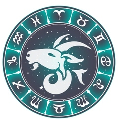 Capricorn zodiac sign vector