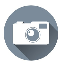 Hipster photo camera icon flat design style circle vector