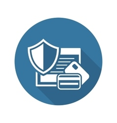 Secure transaction icon flat design vector