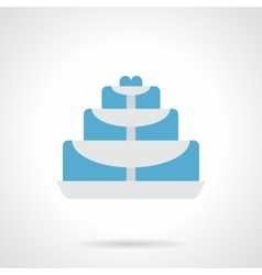 Fountain for table flat color icon vector