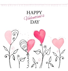 Postcard for valentine s day vector