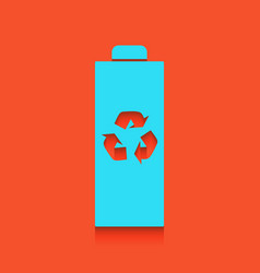 Battery recycle sign whitish vector
