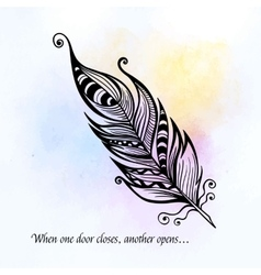 Beautiful hand drawn sketch of feathers for your vector
