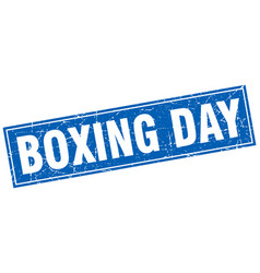 Boxing day square stamp vector